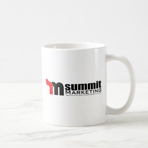 Márketing de la cumbre taza básica blanca