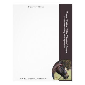 Márketing de negocio del caballo plantillas de membrete