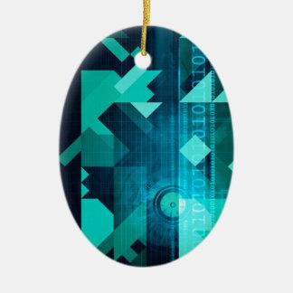 Márketing en línea para el cliente empresa en adorno ovalado de cerámica