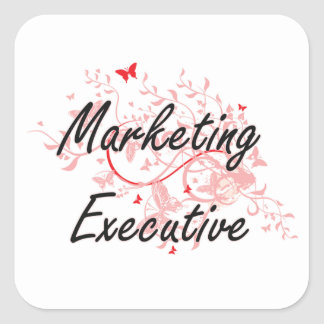 Marketing Executive Artistic Job Design with Butte Square Sticker