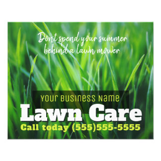 Marketing Flyer 4x5 Lawn Care Business