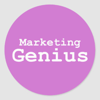 Marketing Genius Gifts Classic Round Sticker