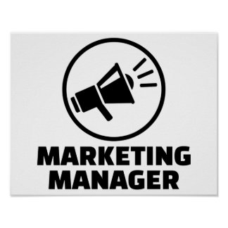 Marketing manager poster
