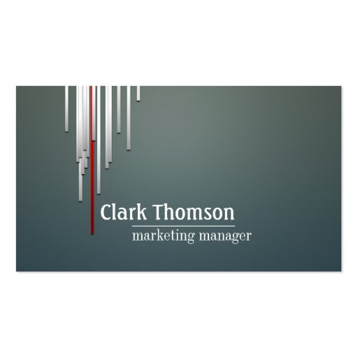 Marketing Manager Professional Business Card : Zazzle