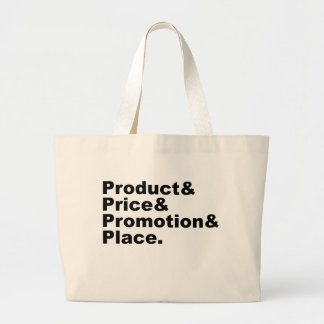 Marketing Mix | Product Price Promotion & Place Large Tote Bag