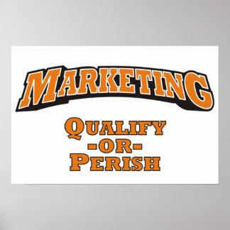 Marketing - Qualify or Perish Poster