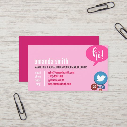 Marketing social media consulting and blogger business card marketing social media consulting and blogger business card colourmoves
