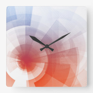 Marketing Tools for Online Advertising Campaign Square Wallclocks