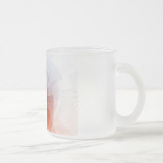 Marketing Tools for Online Advertising Campaign Frosted Glass Coffee Mug