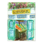 "Marketplace Entrance Invite (Pike Place Seattle) 5"" X 7"" Invitation Card"
