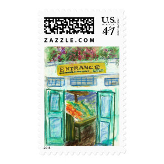 Marketplace Entrance Postage Stamp