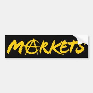 Markets Car Bumper Sticker