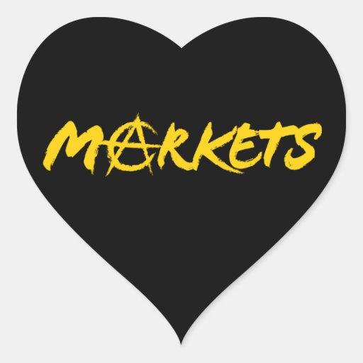 Markets Heart Sticker