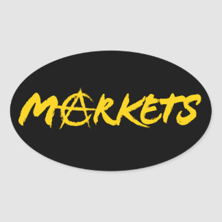 Markets Oval Sticker