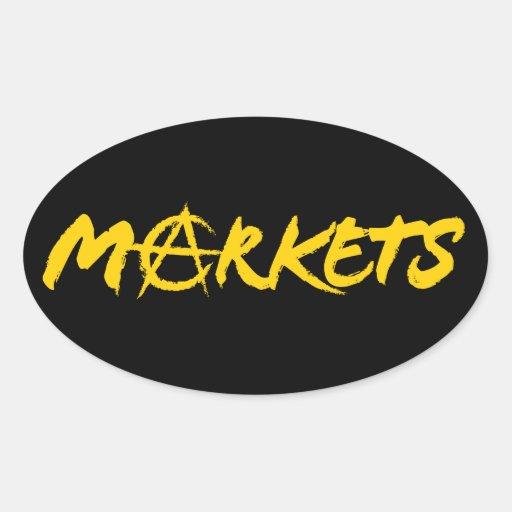 Markets Oval Sticker
