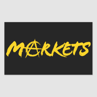 Markets Rectangular Sticker