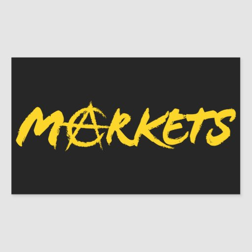 Markets Rectangular Sticker