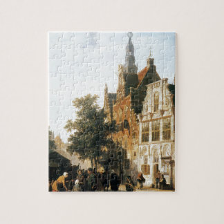 Marketview with cityhall Woerden by Cornelis Puzzle