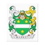 Markey Family Crest Canvas Print