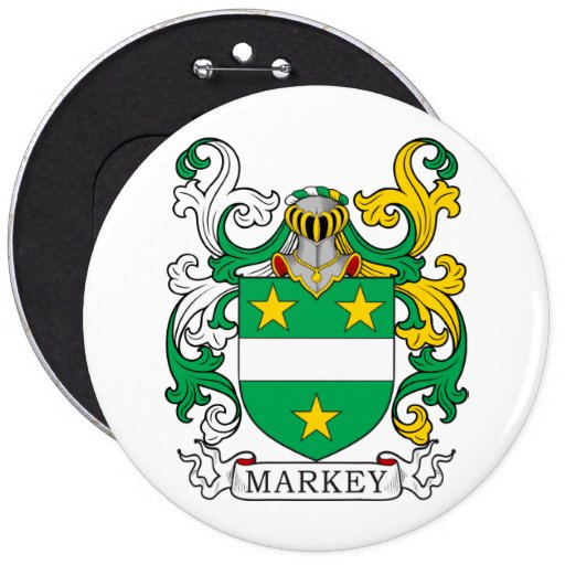 Markey Family Crest Pinback Button