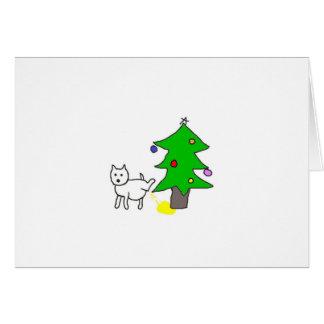 Markin' Around The Christmas Tree Card