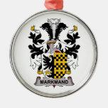 Markmand Family Crest Christmas Tree Ornaments