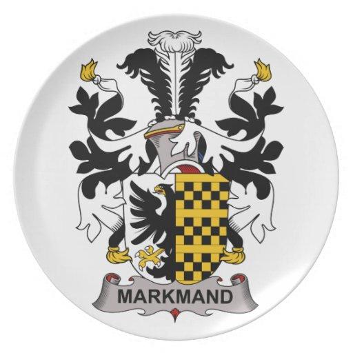 Markmand Family Crest Dinner Plates