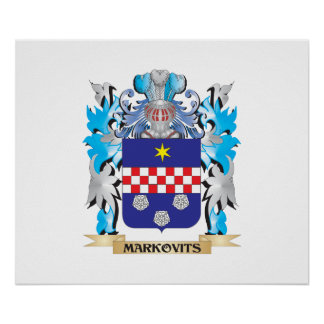 Markovits Coat of Arms - Family Crest Poster