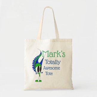 Mark's Awesome Cartoon | Add Your Name Tote Bag