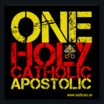 "Marks of the Catholic Church Poster<br><div class=""desc"">Show your fidelity in College,  at home,  wherever... </div>"