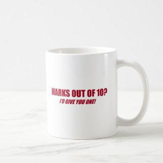 Marks out of 10 coffee mug