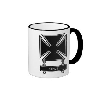 Marksman Badge w/Rifle Bar Ringer Mug
