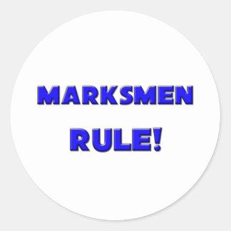 Marksmen Rule! Classic Round Sticker