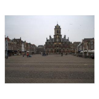 Markt, Delft Postcard