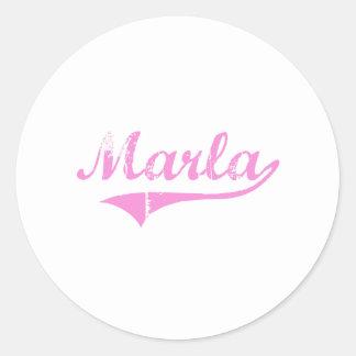 Marla Classic Style Name Classic Round Sticker