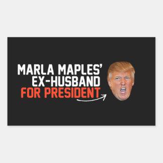 Marla Maples ex-husband for President- - .png Rectangular Sticker