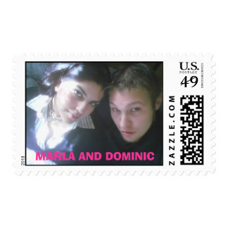 MARLA, MARLA AND DOMINIC POSTAGE STAMP