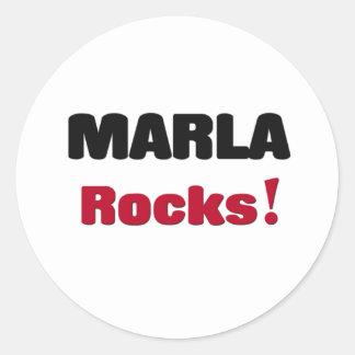 Marla Rocks Classic Round Sticker
