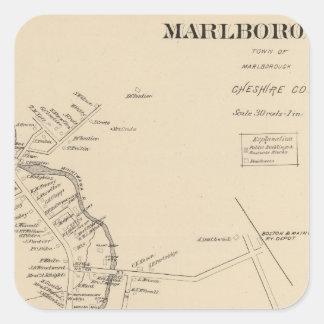 Marlborough PO Calcomanías Cuadradases