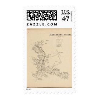Marlborough PO Postage Stamp