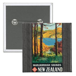 Marlborough Sounds Govt Tourist Dept New Zealand, Pinback Button