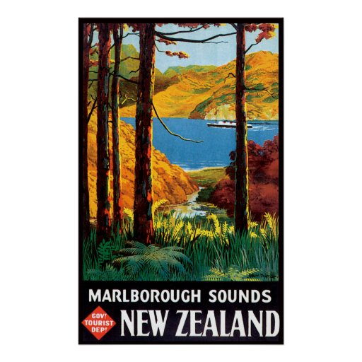 Marlborough Sounds New Zealand  City pictures : Marlborough Sounds New Zealand Poster | Zazzle