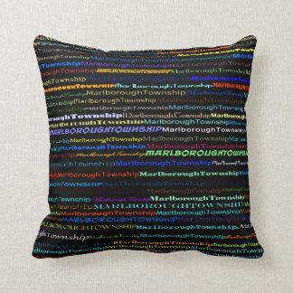 Marlborough Township Text Design I Throw Pillow