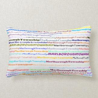 Marlborough Township Text Design II Lumbar Pillow