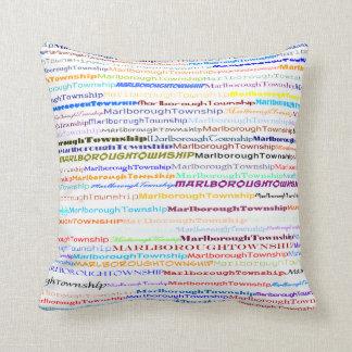 Marlborough Township Text Design II Throw Pillow