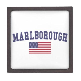 Marlborough US Flag Keepsake Box