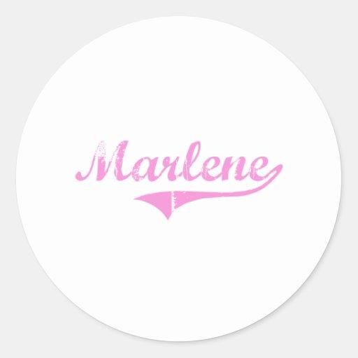 Marlene Classic Style Name Classic Round Sticker
