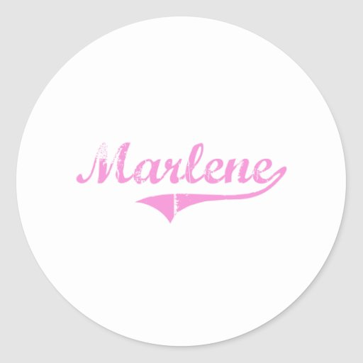 Marlene Classic Style Name Round Stickers