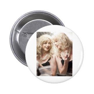 Marlene in mirror jpg pinback buttons