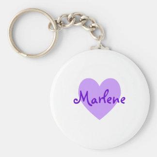 Marlene in Purple Basic Round Button Keychain